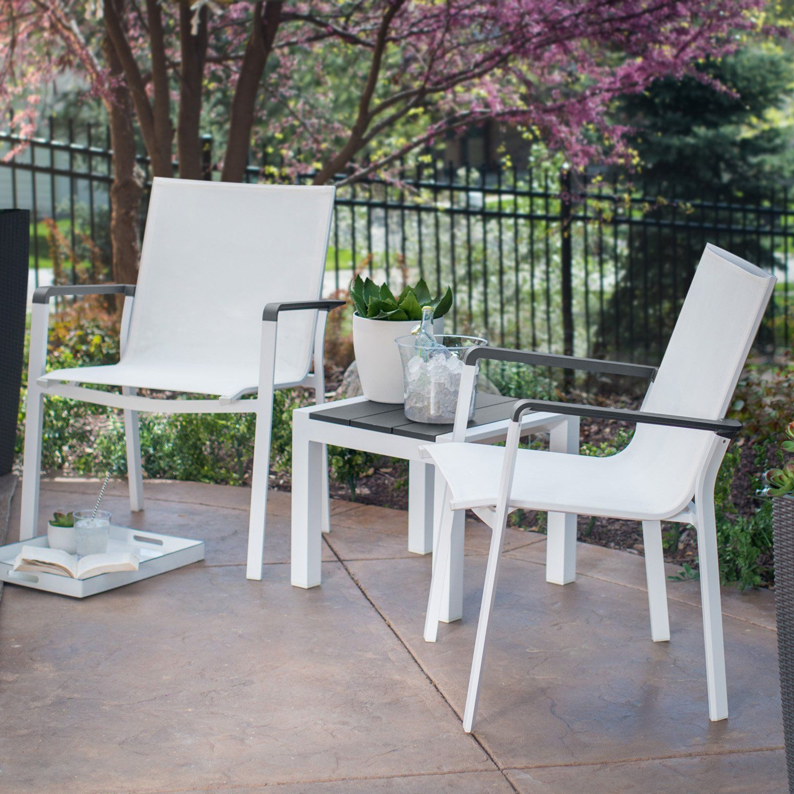 Belham Living Solace Lounge Chair Chat Set From Hayneedle Com