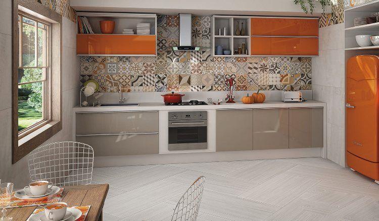 cr dence cuisine moderne pour un int rieur chic et original cr dence cuisine gris taupe et. Black Bedroom Furniture Sets. Home Design Ideas
