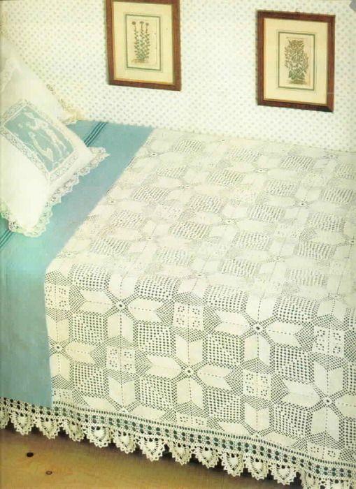 Irish crochet &: CROCHET BEDSPREAD ... ПОКРЫВАЛО | manteles a ...