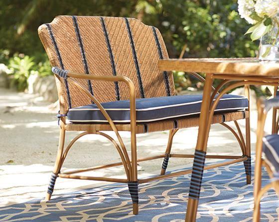 Martha Stewart Living™ Oleander Outdoor Bench - Outdoor Bench - Wicker Bench - Outdoor Dining Bench - Outdoor Dining Furniture | HomeDecorators.com
