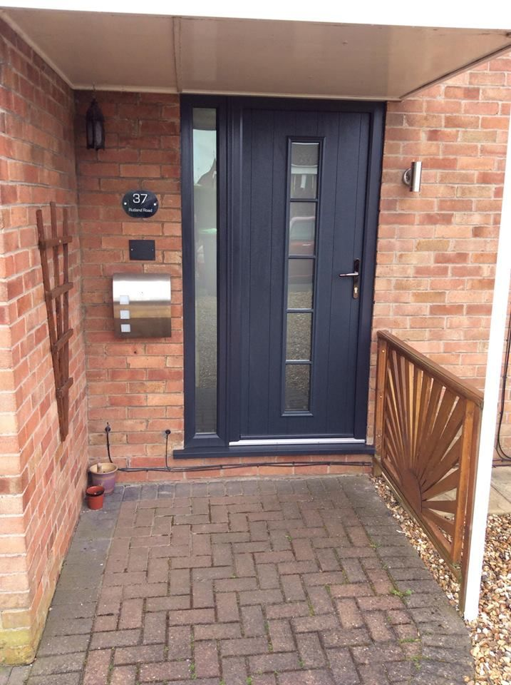 Anthracite Grey Solidor Florence Composite Door And