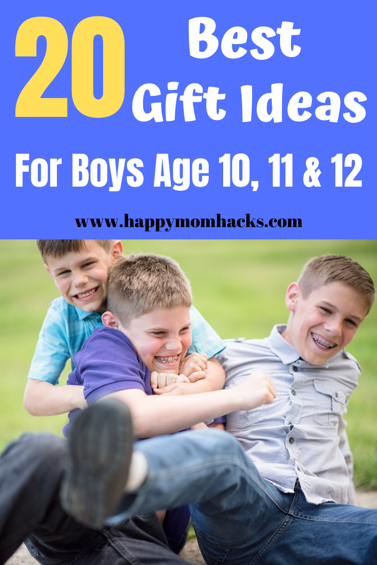 20 Fun Gift Ideas For Boys Age 10 12 Best Gift Guide Happy Mom Hacks Boy Birthday Parties Birthday Presents For Mom Birthday Gifts For Boys