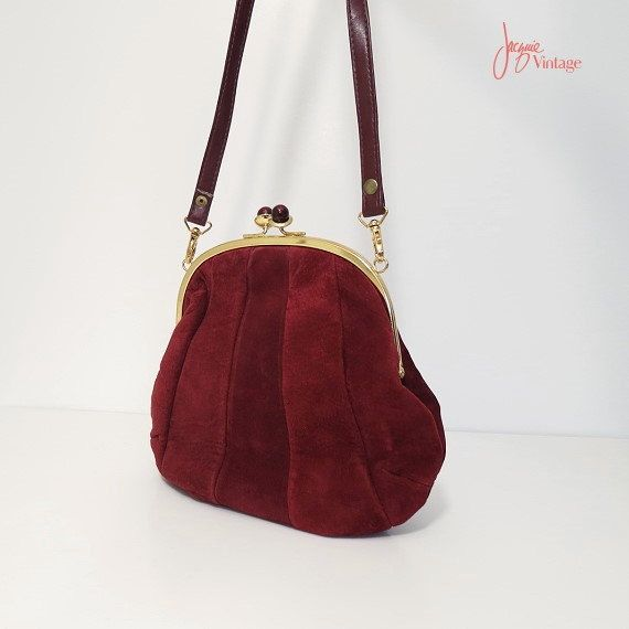 Vintage Wine Suede Purses Add It To Your Favorites Revisit Later Burgundy