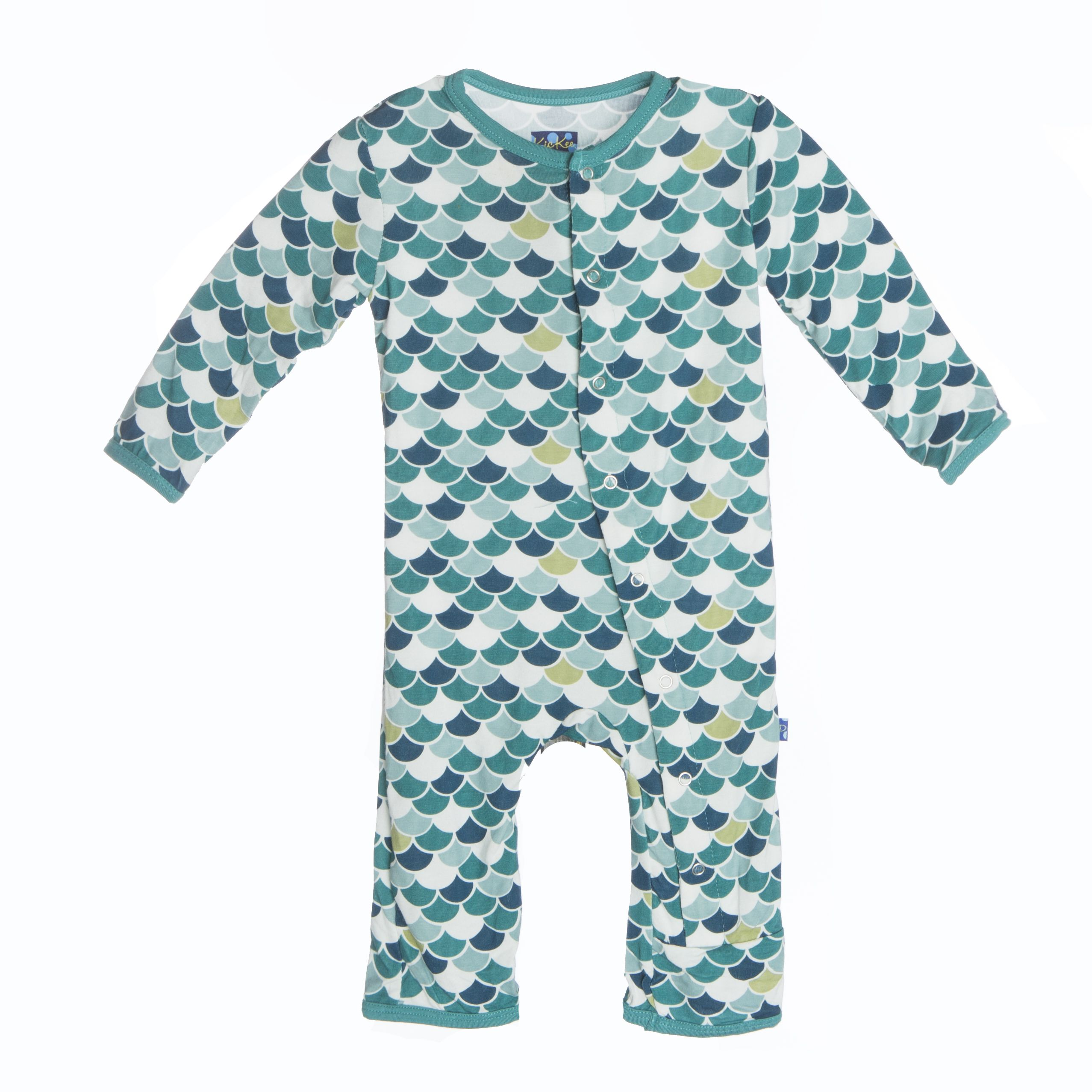 KicKee Pants Lagoon Scales Coverall