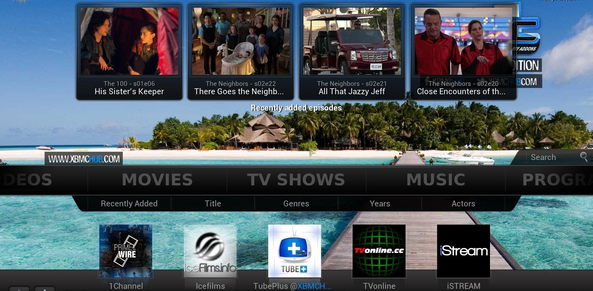 XBMC - Download content and setup Libraries | Marty's stuff