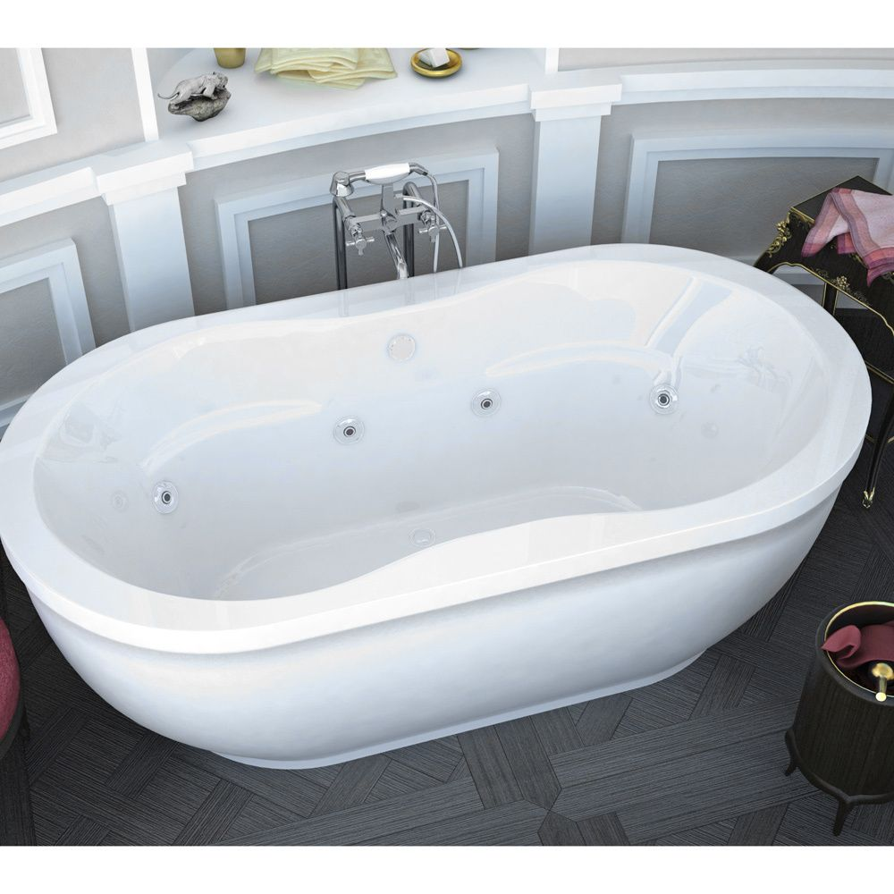 Good Kohler Archer Bathtub Mountain Home Gaia 34 In X 71 In Acrylic Whirlpool  Jetted Freestanding Bathtub
