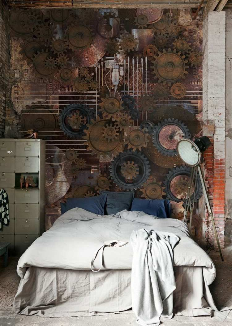 Steampunk Furniture Decor Ideas U0026 Designs, Accessories And Art #steampunk #interior  #Design #Industrial #mancaves #Switchplates #livingroom #Bar #art ...