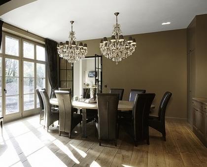 Mesa De Comedor Con Lamparas Muy Especiasles Mesas Casas Elegantes