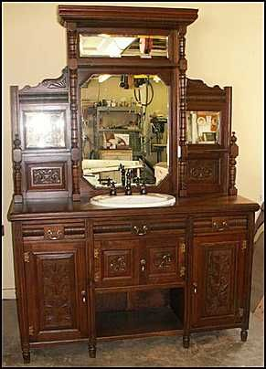 photo of front view antique bathroom vanity antique hutch for rh pinterest com