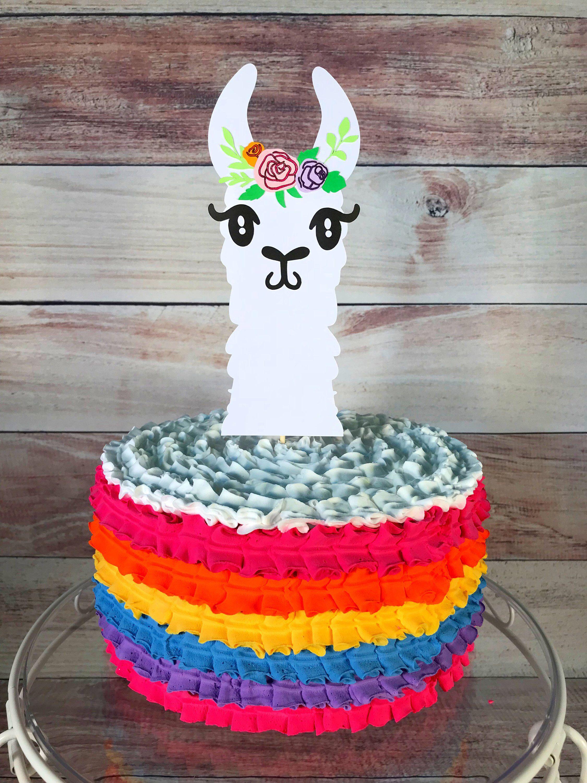 Llama cake topper llama birthday llama party llama