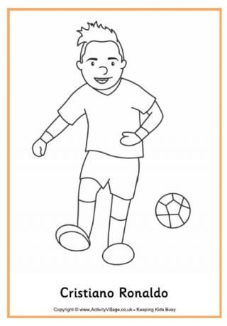Cristiano Ronaldo Colouring Page World Cup Football Soccer - new coloring pages ronaldo