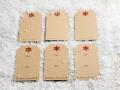 Anhänger, Kartenanhänger Weihnachten - Gestanzte Anhänger im Format 90x50mm, 300g/m²-Naturpapier Kraft, auf Vorder- und Rückseite beschriftbar