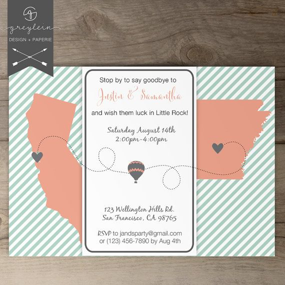 Going Away Party Invitations Printable Going Away Party