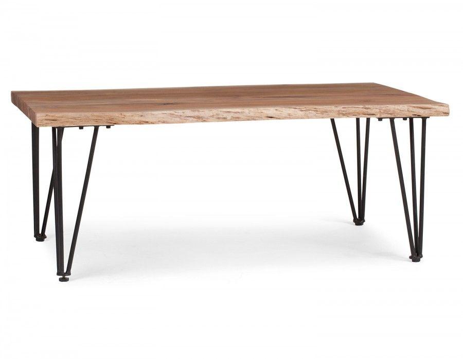RENO Solid Acacia Wood Coffee Table Natural | Structube