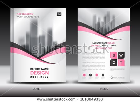 Annual report cover design, brochure flyer template, business