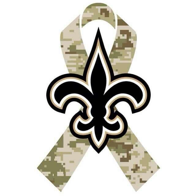 NFL New Orleans Saints Salute To Service Ribbon