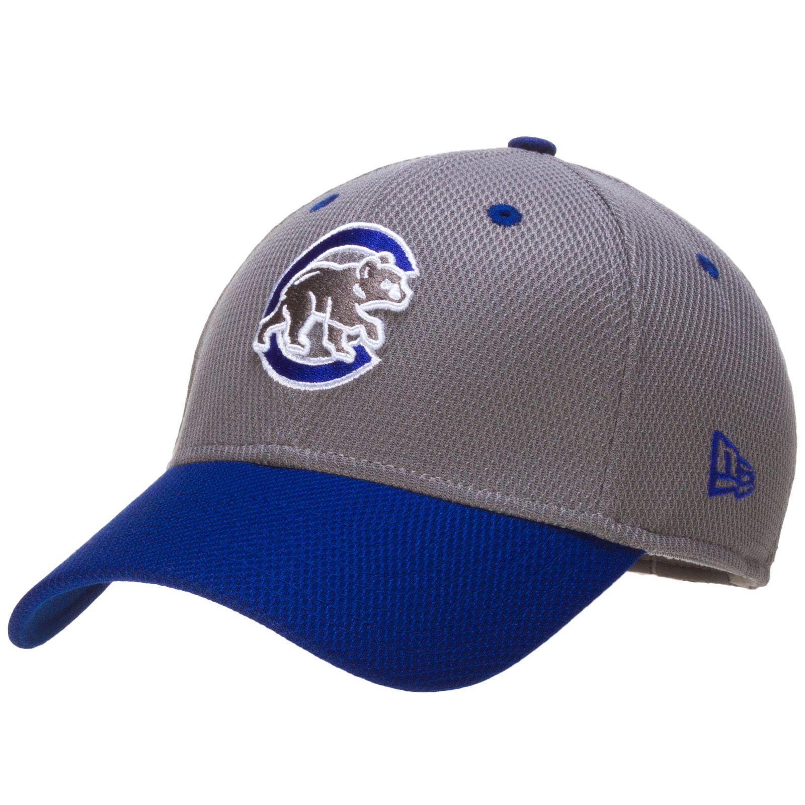 0bdf13b65ec Chicago Cubs Grey and Blue Crawl Bear Flex Fit Hat by New Era  Chicago