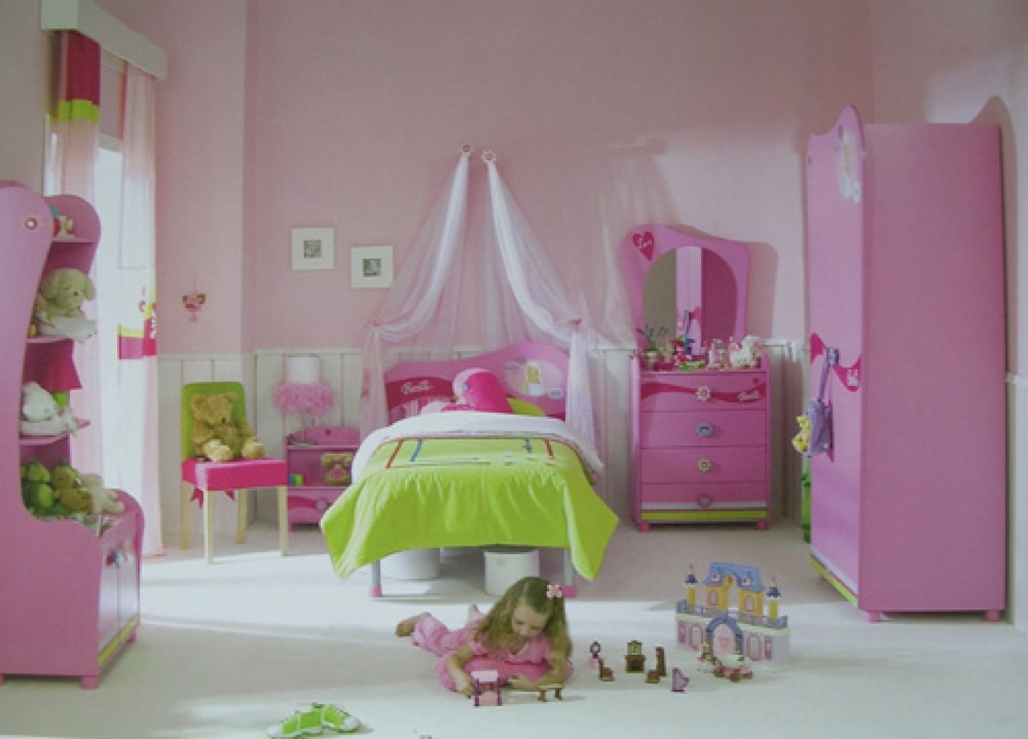 Lovely Kids Bedroom Ideas : Kids Bedroom Pinky Decoration Inspiration Girls Bedroom  Sets Decorating Ideas For Little Part 8