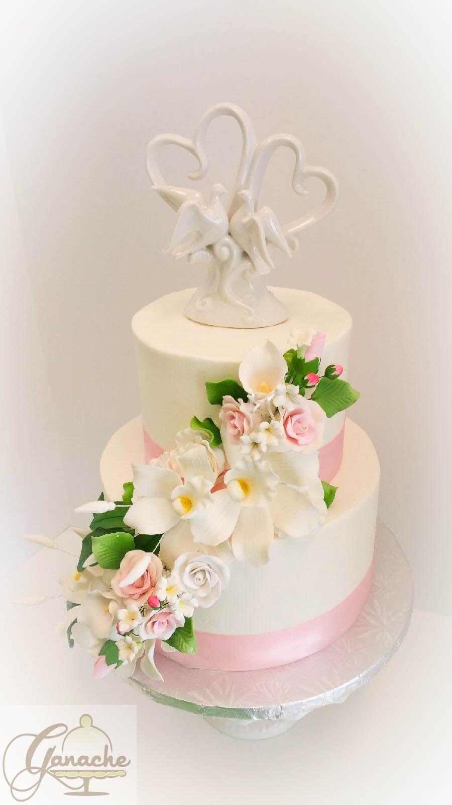 Simple But Elegant Wedding Cake Our Wedding Cakes Pinterest