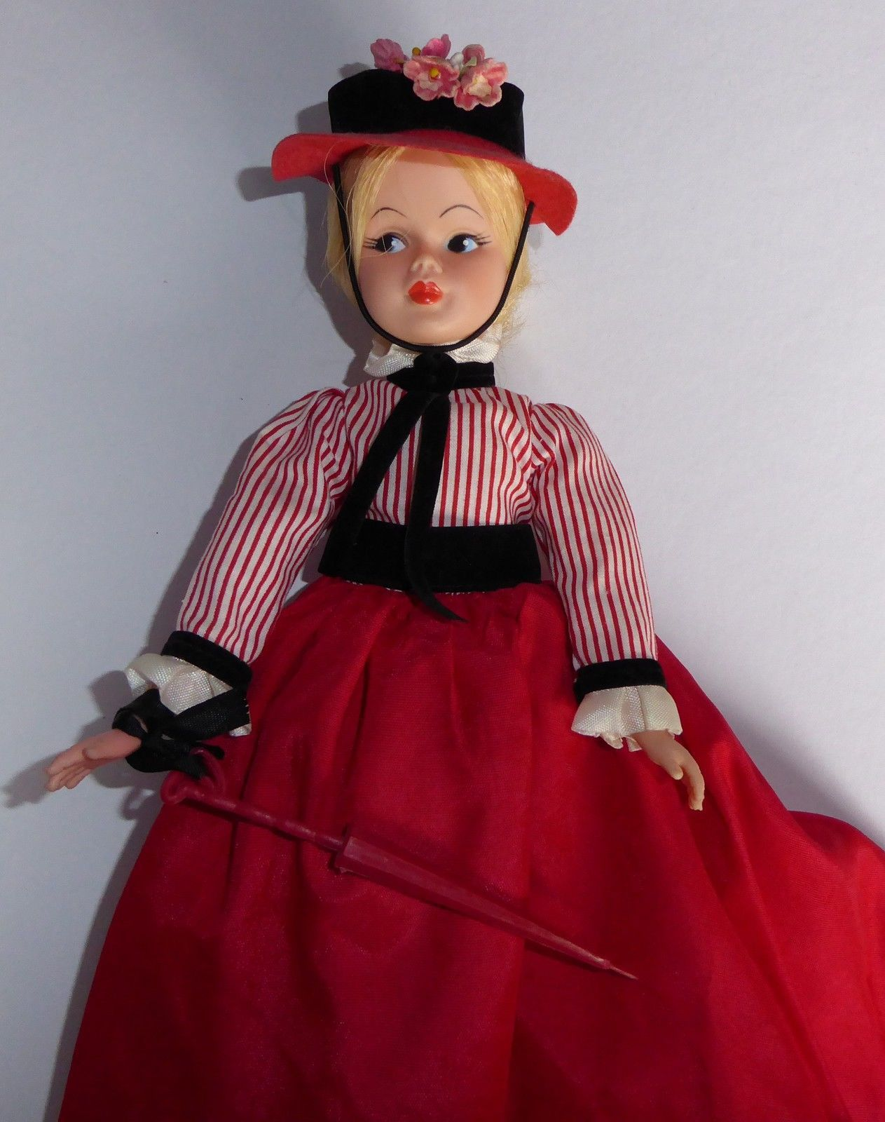 Vintage Horsman Gibson Girl like Mary Poppins doll in original outfit | eBay Mine has a Straw hat