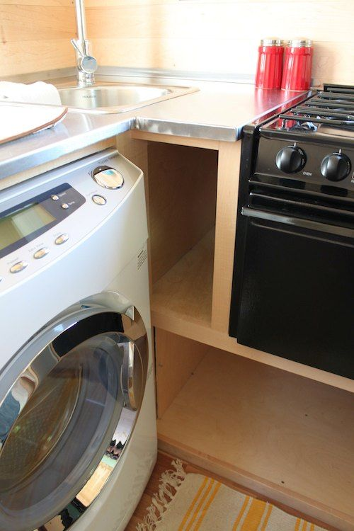Cute Tumbleweed Fencl Hey, A Washer/dryer And An Oven, Too! Look At The  Hidden Storage!!