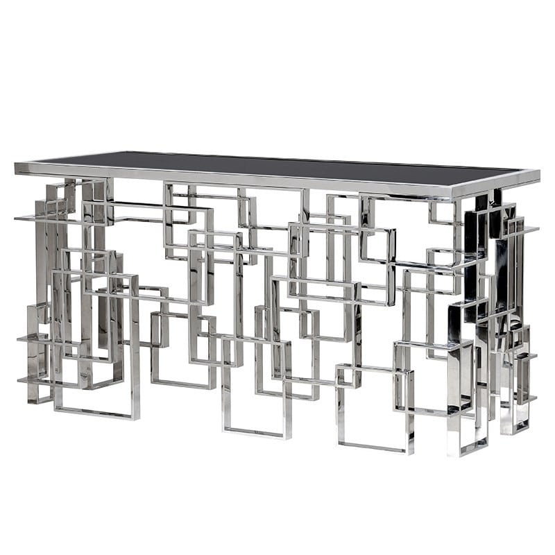 Metal Geometrie Console Table Console Table Mirrored Furniture Luxury Furniture