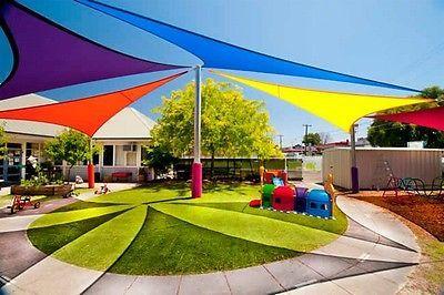 New Triangle Outdoor Sun Sail Shade Canopy Cover Blue Home Garden Yard Garden Outdoor Living Garden Structu Sun Sail Shade Shade Sail Canopy Outdoor