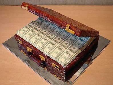The Suitcase Of Money Cake
