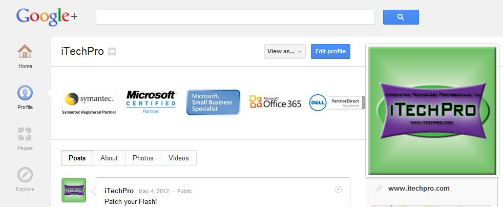 iTechPro on Google+