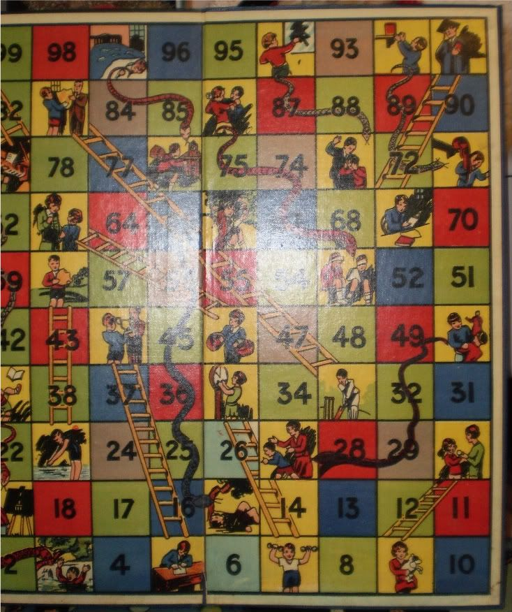 British Snakes and Ladders game board by Betal Games