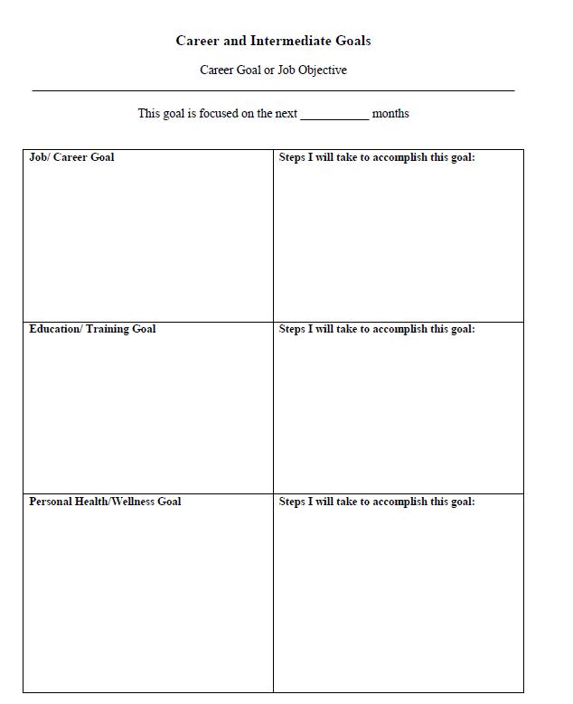 smart goal worksheet smart career goals worksheet printables