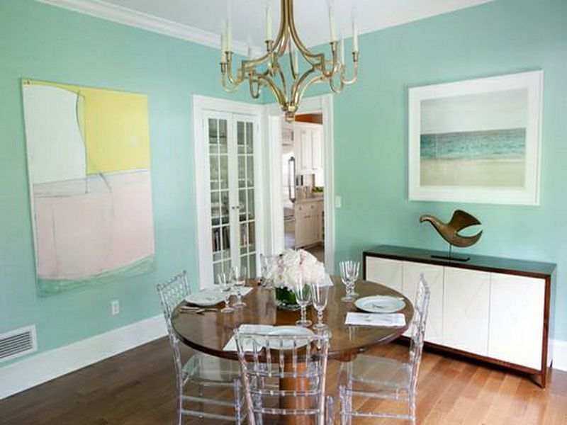 Image Of Mint Green Wall Paint Light Walls Painted