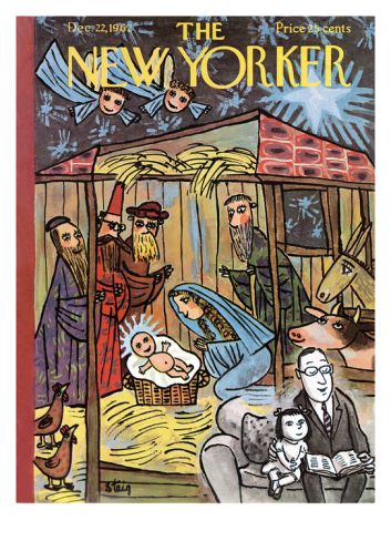 The New Yorker Cover December 22 1962 Premium Giclee Print William Steig Art Com New Yorker Covers A Christmas Story The New Yorker