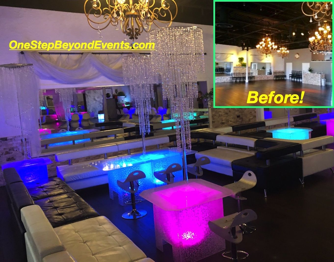 Acrylic Ice Glow Tables! These Glow Tables are exclusive