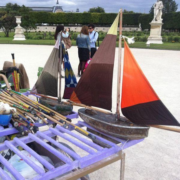 Paris: Toy Sailboats. Some Of The Parks Like Jardin De