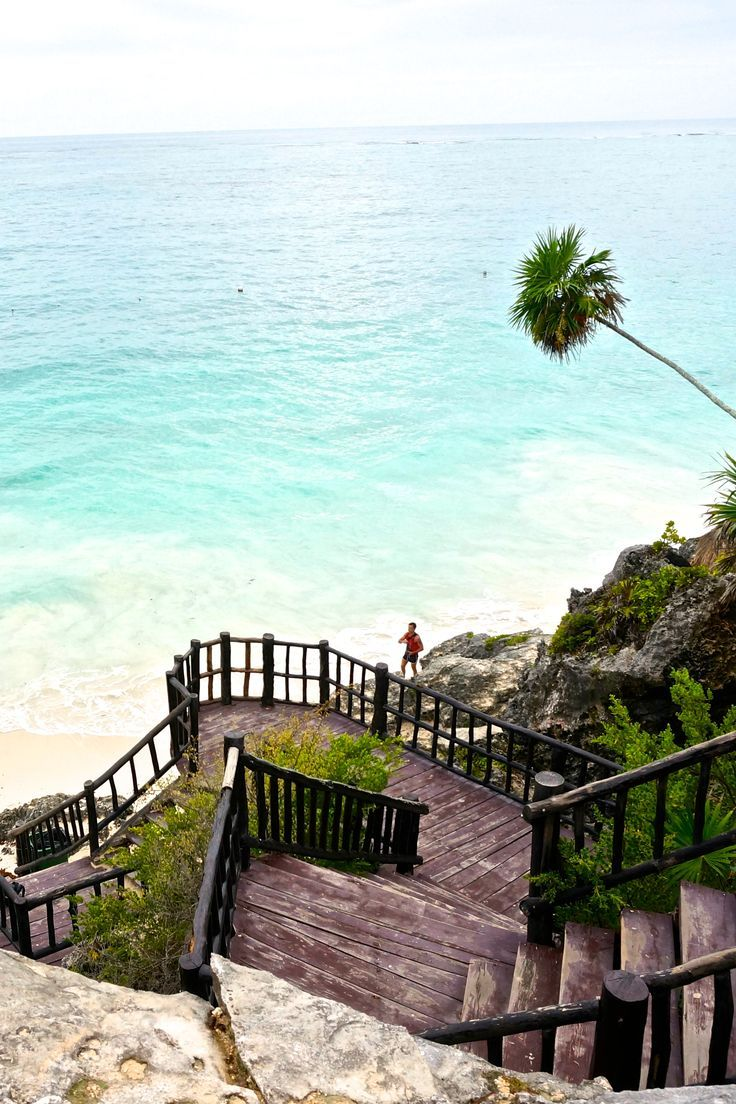 The ruins of Tulum, Mexico in the Riveria Maya.