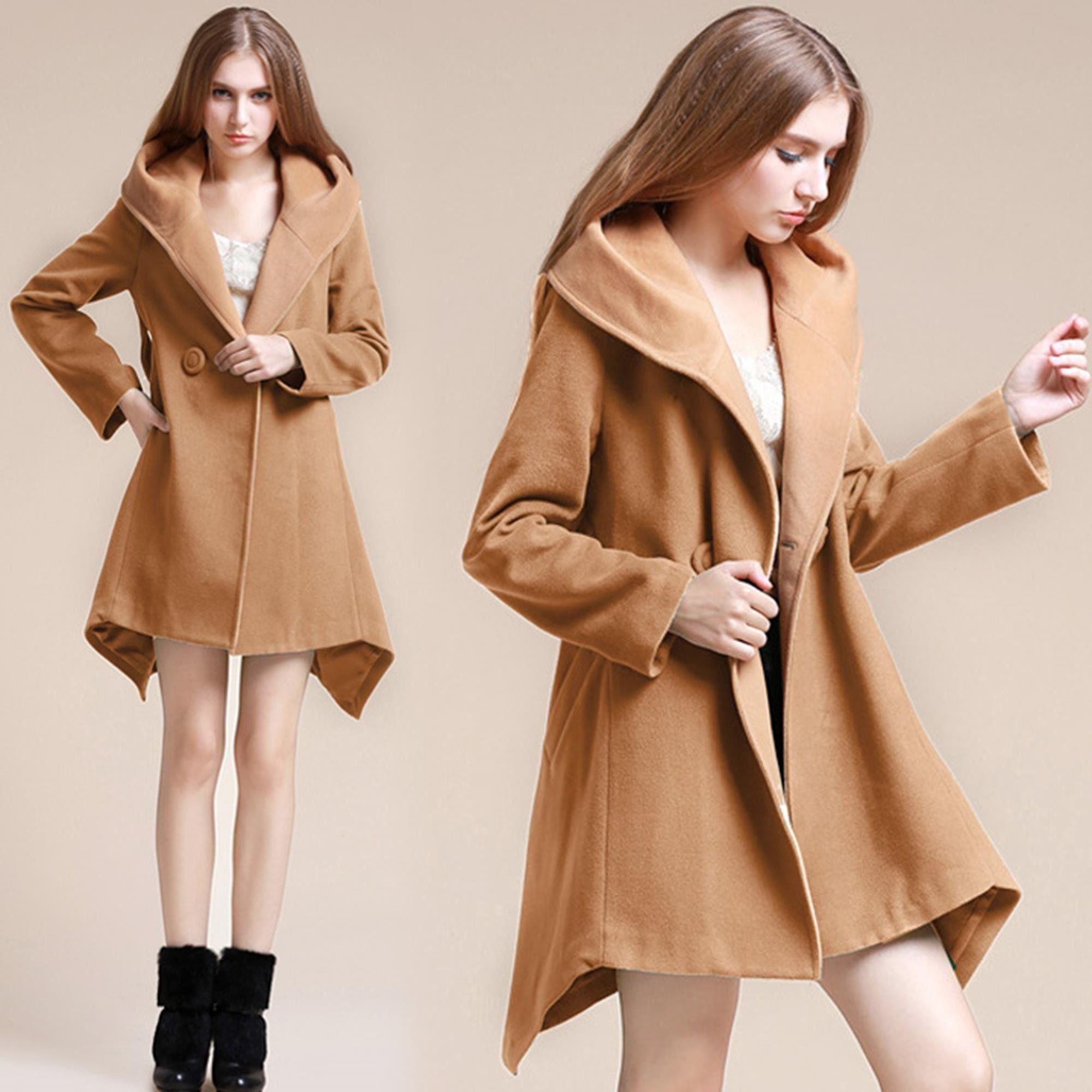 FINEJO 2014 New Fashion Irregular Lapel Trench Wool Blend Double Breasted Coat Jacket at Amazon Women's Coats Shop  http://www.amazon.com/FINEJO-Sleeve-Irregular-Draped-Blouse/dp/B00PIECFI8/ref=sr_1_145?ie=UTF8&qid=1416504315&sr=8-145&keywords=trench+coat+pattern