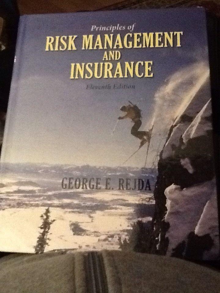 Principles Of Risk Management And Insurance Mcnamara Rejda 11th Edition 0136117023 Ebay Risk Management Management Principles