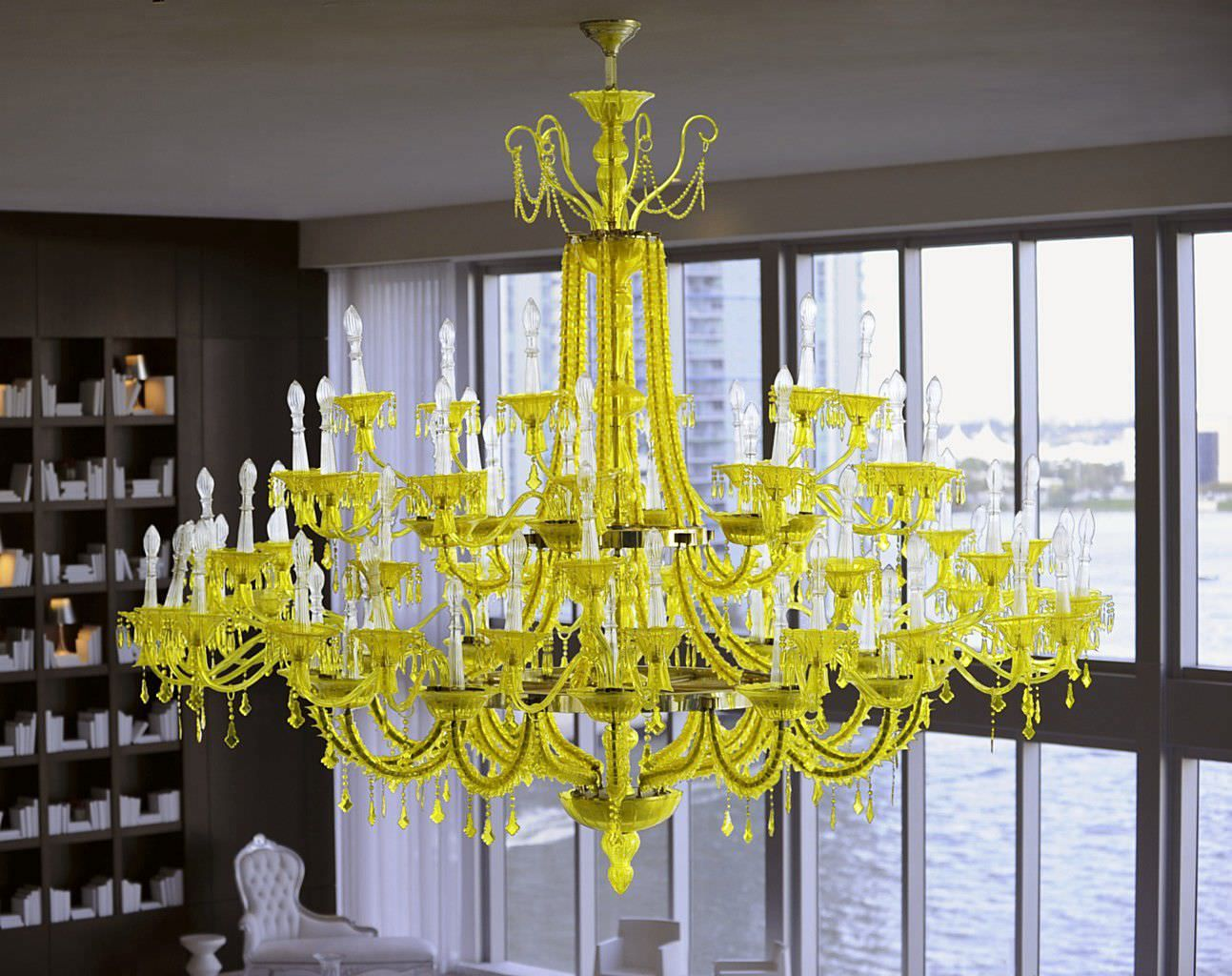 Original Design Blown Glass Chandeliers Handmade Philippe Starck