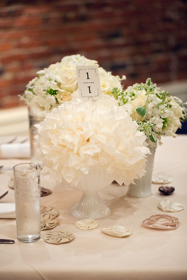 Lovely Centerpiece!  Photography by abbeyhepner.com, Florals by finchandthistleevents.com