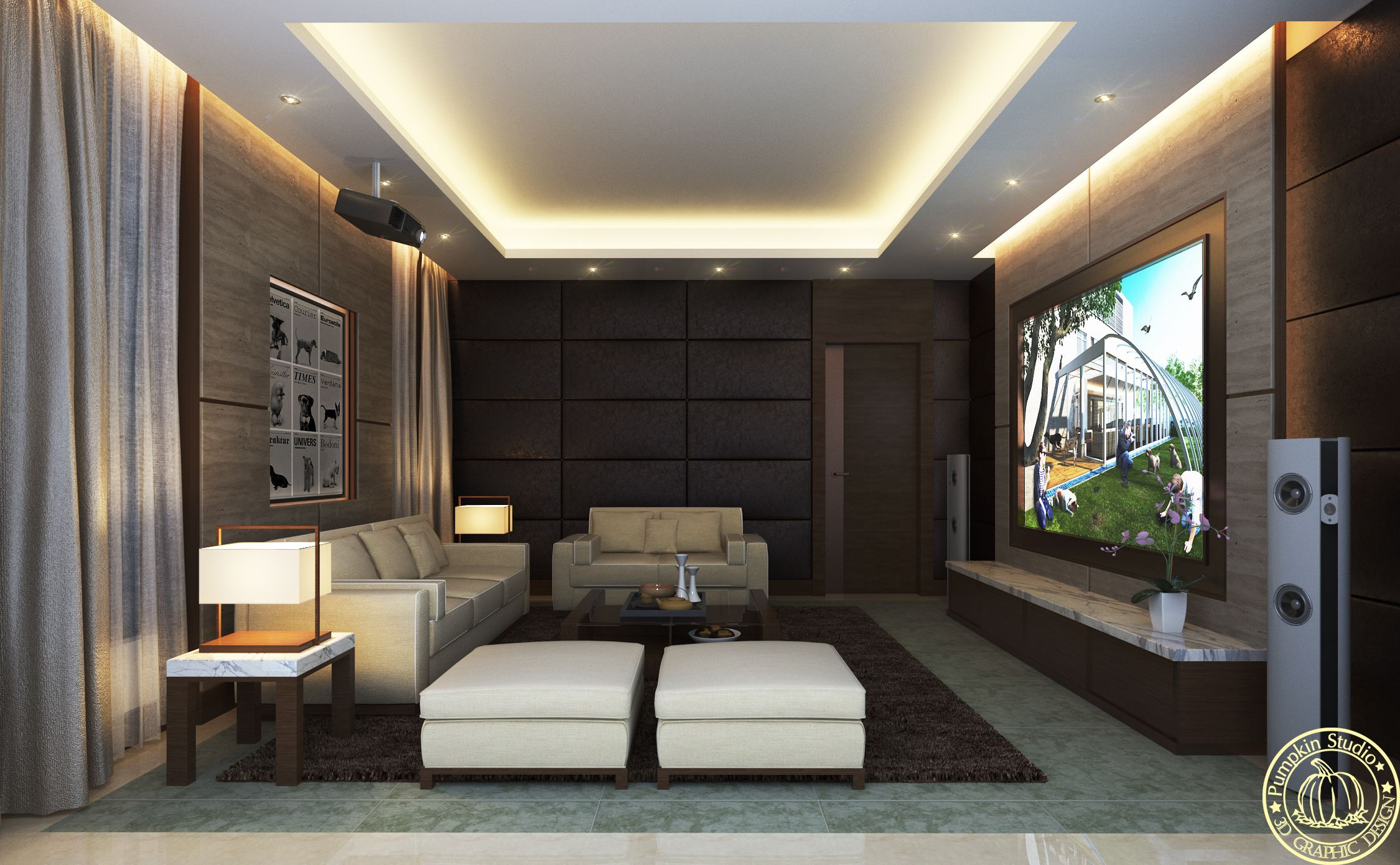 Similar Chinese Modern Style Audio Visual Room 3d Living Room 3d客廳