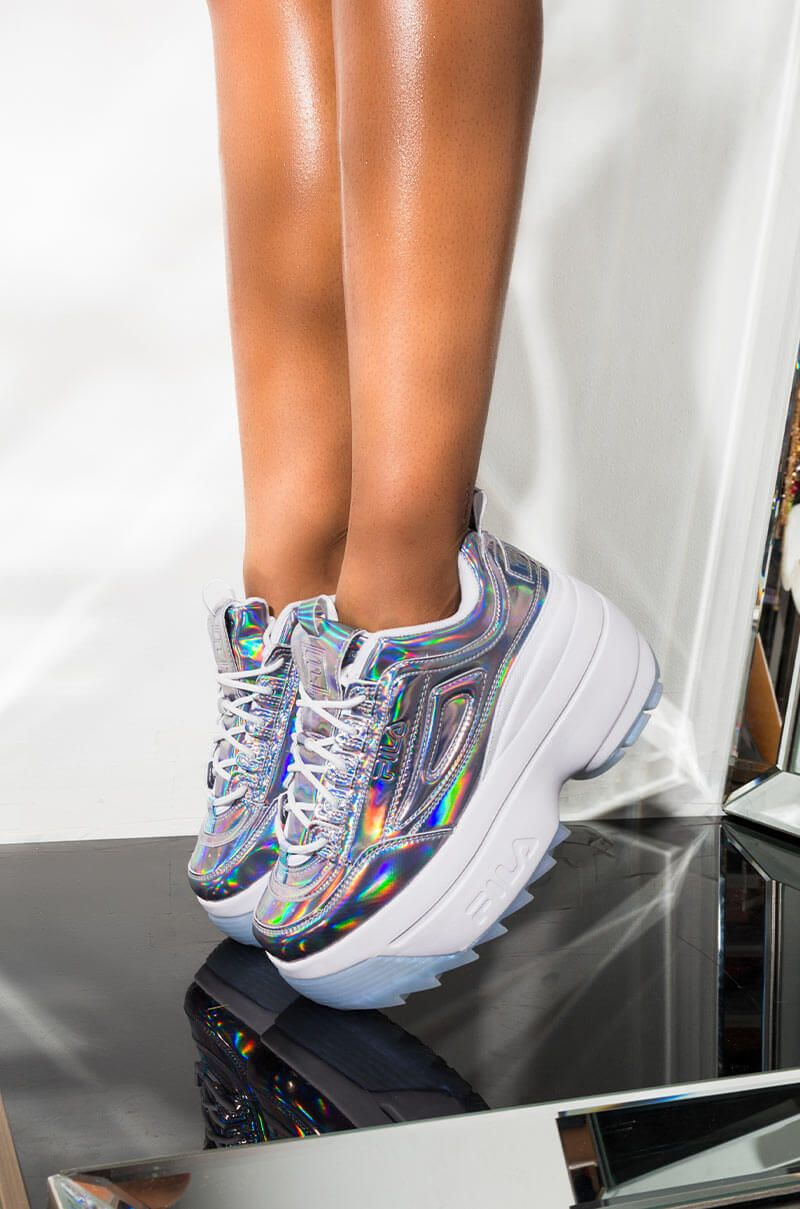 iridescent fila shoes