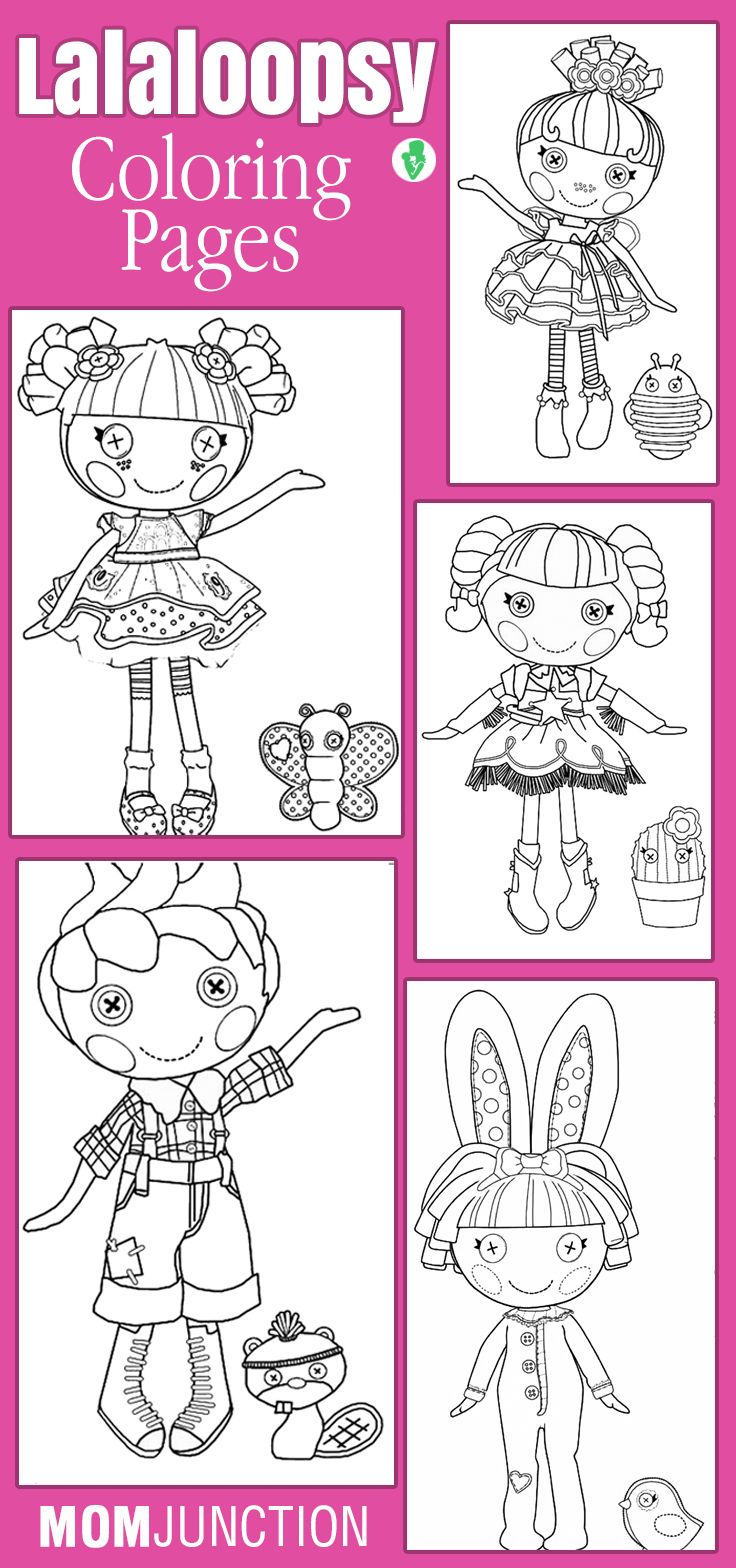 Childrens coloring sheet of a rag doll - Lalaloopsy Coloring Pages Free Printables
