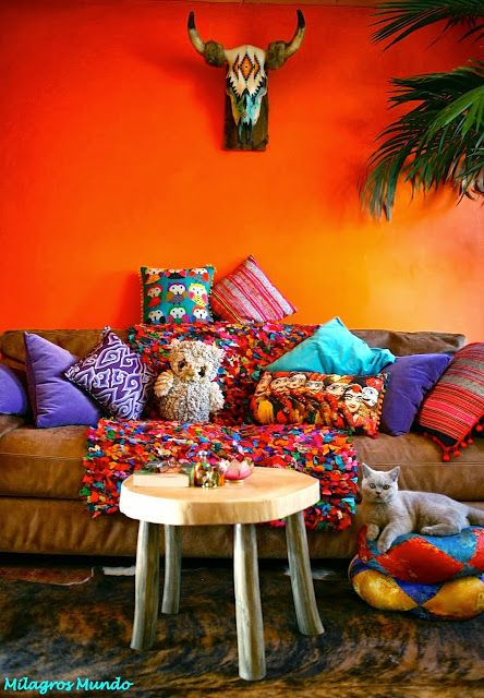 Milagros mundo funky fairtrade hippy chic urban hippy lifestyle winkel home decor in 2019 for Urban boho style living room