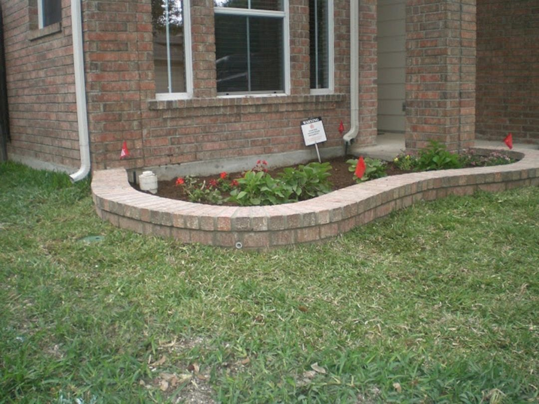 25 Beautiful Brick Flower Bed Ideas For Front Yard Landscaping
