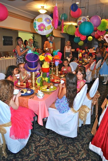 Alice In Wonderland Mad Hatter Tea Party Rental Ideas