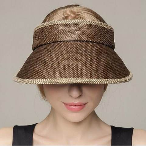 David /& Young Womens Vacay All Day Straw Roll Up Visor