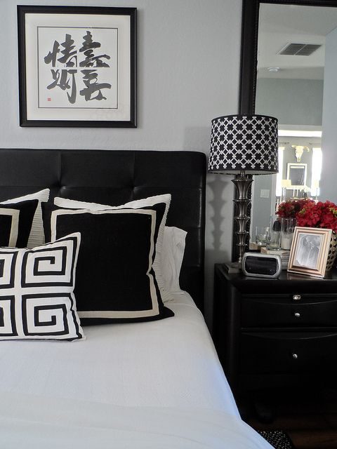 SPR2013 BEDROOM RESTYLE 2013 (10) | Just changing a shade can update a lamp - Lamps from HomeGoods (2005) and shades also from HomeGoods (2010) but still work great today! (2013) #HomeGoods #HappyByDesign #NYCLQ Lynda Quintero-Davids #FocalPointStyling #PHX #AZ