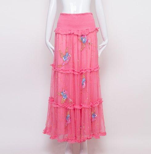 Summer Birds Long Skirt