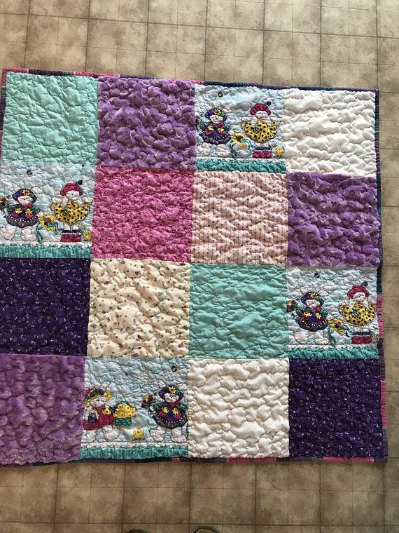 Pink and purple easter bunny quilt easter bunny blanket baby girl pink and purple easter bunny quilt easter bunny blanket baby girl quilt patchwork negle Choice Image